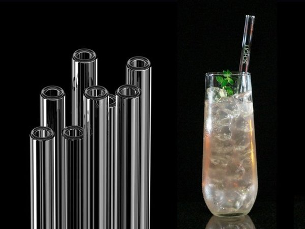 SCHOTT Straws - Glass drinking straws, 20 cm (with the SCHOTT logo)