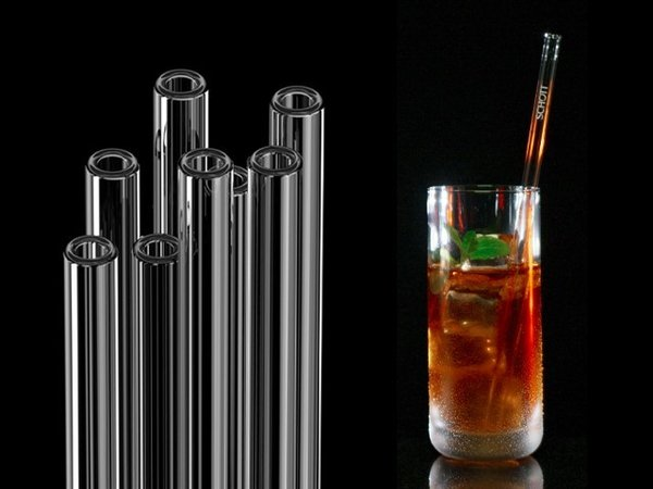 SCHOTT Straws - Glass drinking straws, 23 cm (with the SCHOTT logo)