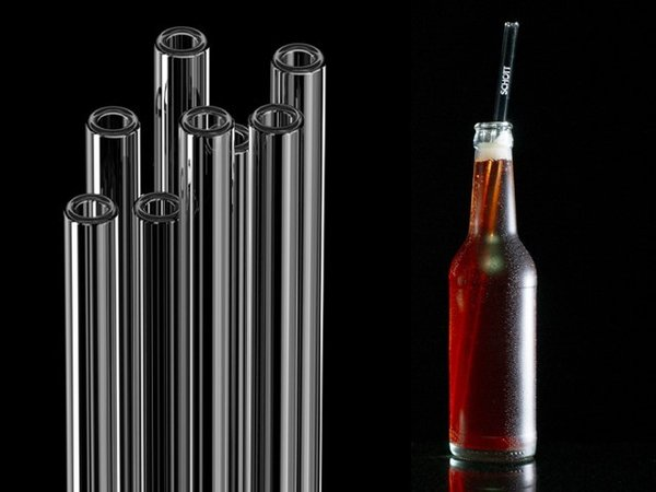 SCHOTT Straws - Glass drinking straws, 30 cm (with the SCHOTT logo)